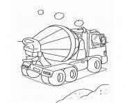 camion de chantier dessin à colorier