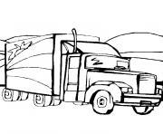 camion remorque dessin à colorier