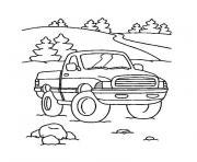 camion americain dessin à colorier
