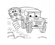 Coloriage camion cars