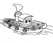 bateau a moteur dessin à colorier