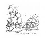 bateau guerre dessin à colorier