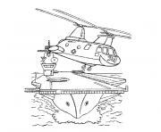 bateau militaire dessin à colorier