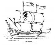 Coloriage Bateau Pirate Dessin