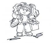 fille 7 ans dessin à colorier