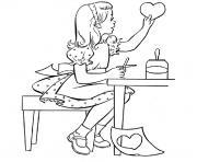petite fille decoupage dessin à colorier