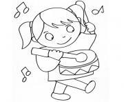 fille 3 ans dessin à colorier