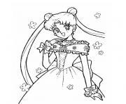 fille princesse dessin à colorier