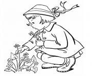 jeune fille dessin à colorier