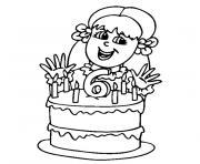fille de 6 ans dessin à colorier