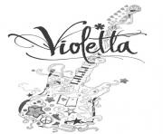 Coloriage guitar violetta