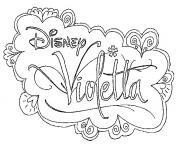 logo disney violetta dessin à colorier