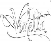 Coloriage Violetta fait un shooting photo dessin