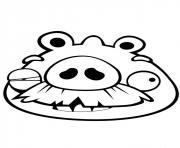 angry birds papi cochon dessin à colorier