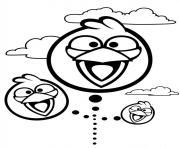 angry birds souriant et joyeux dessin à colorier