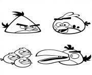Coloriage les angry birds