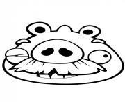 angry birds vieu cochon dessin à colorier