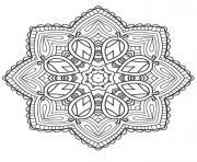 mandala etoile 2 dessin à colorier
