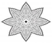 mandala etoile dessin à colorier