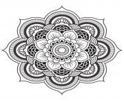 mandala fleur dessin à colorier