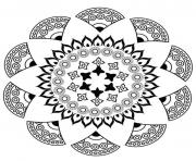 Coloriage trippy mandala with stars dessin