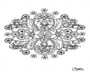 Coloriage coloring free mandala difficult adult to print 15