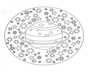 Coloriage free mandala to color planet stars