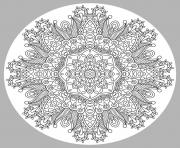 coloring adult mandala by karakotsya 1  dessin à colorier