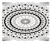 Coloriage free mandala to color new york buildings  dessin
