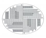 free mandala to color new york buildings  dessin à colorier