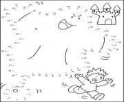 points a relier cp fantome fait peur au garcon dessin à colorier