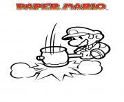 mario paper millenaire 17 dessin à colorier