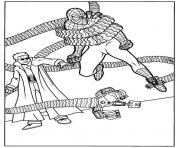 Docteur Octopus attrape encore une fois spiderman dessin à colorier