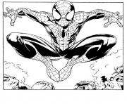 Coloriage spiderman 179