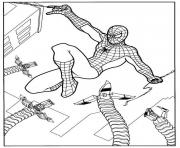 Coloriage Gwen Stacy use her powers spiderman dessin