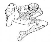 Coloriage spiderman 33