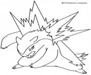 Coloriage pokemon kyogre dessin