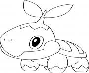 Coloriage pokemon tiplouf dessin