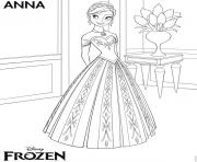Coloriage anna frozen disney