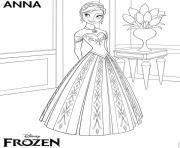 anna frozen disney dessin à colorier