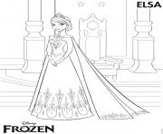 Coloriage elsa disney frozen