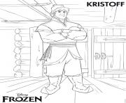 Coloriage kristoff frozen disney