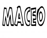 Coloriage Maceo