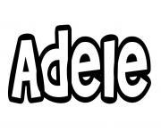 coloriage Adele