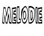 Coloriage Melodie