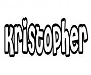 Coloriage Kristopher