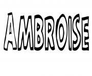 Ambroise dessin à colorier