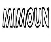 Mimoun dessin à colorier