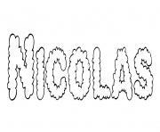 Nicolas dessin à colorier