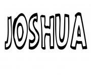Joshua dessin à colorier